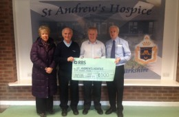 Donation to St Andrew's Hospice