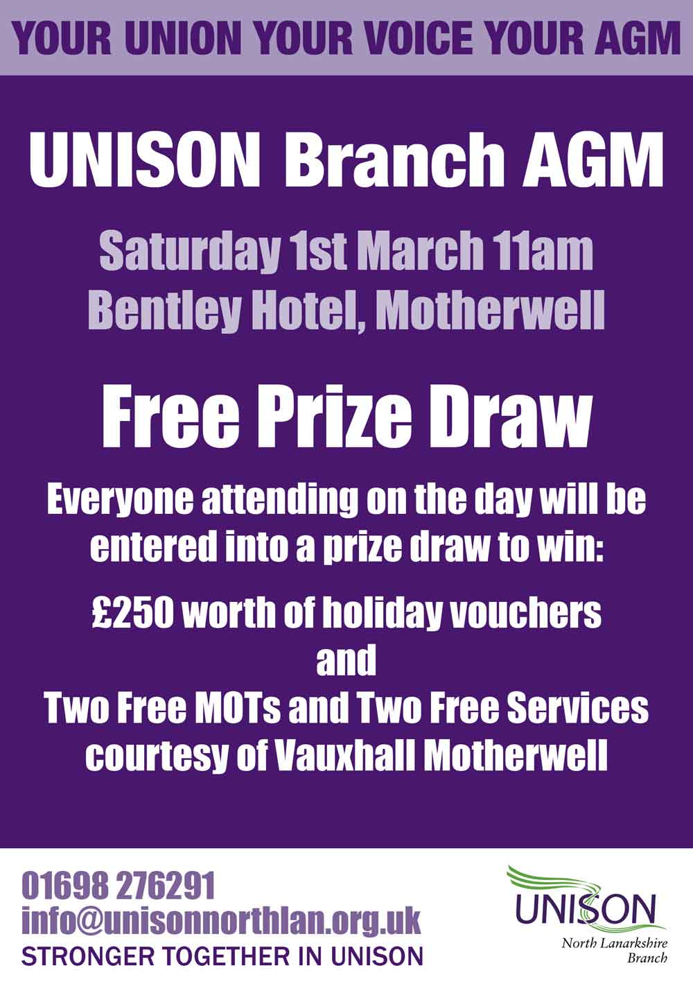 UNISON-Branch-AGM-Prize-Draw