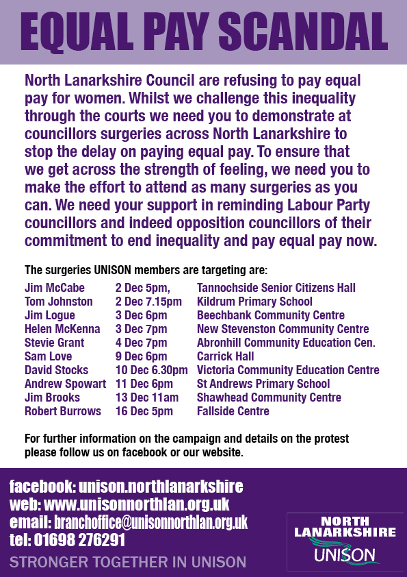 Equal Pay e-flyer