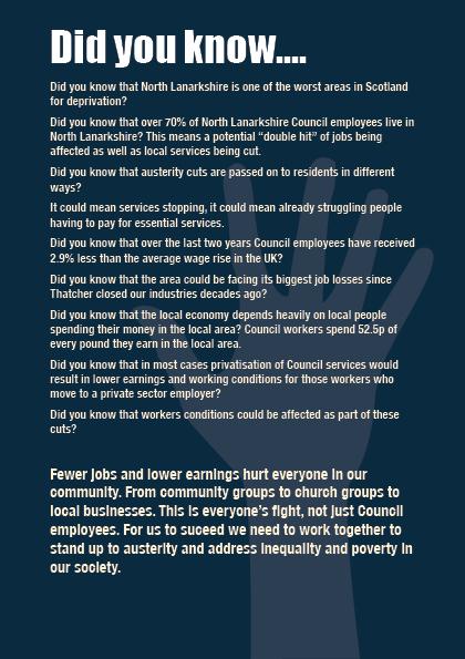 UNISON cuts leaflet page3