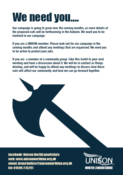 UNISON cuts leaflet page4