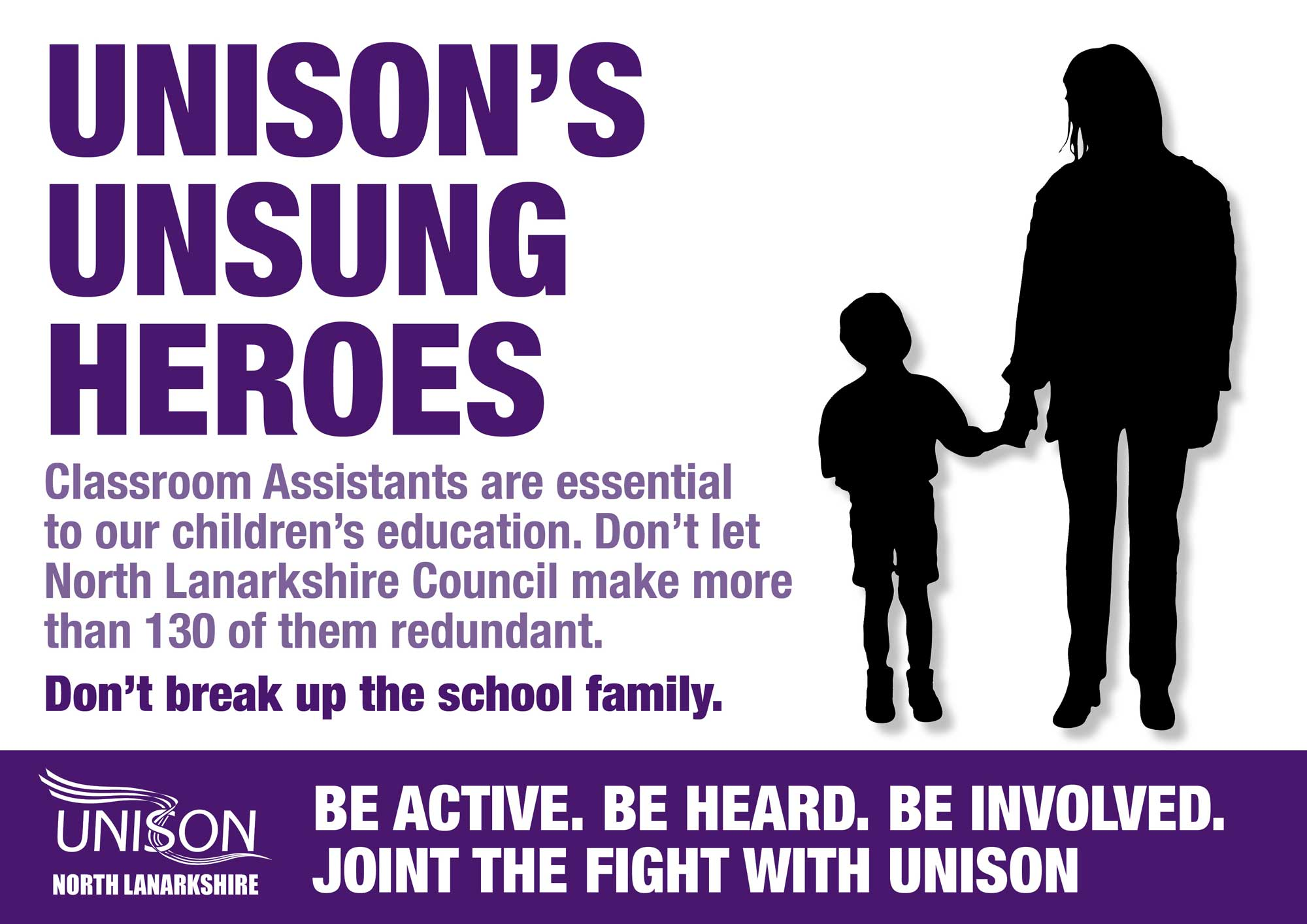 Join the Unsung Heroes in Unison's campaign against NLC Cuts
